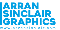 3 Blue Arran Sinclair Graphics Logo